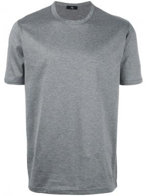 Plain T-shirt Fay. Цвет: серый