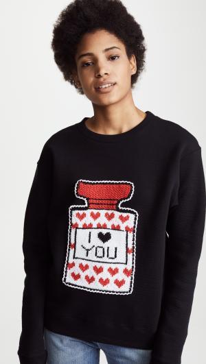 I Love You Perfume Bottle Sweatshirt Michaela Buerger