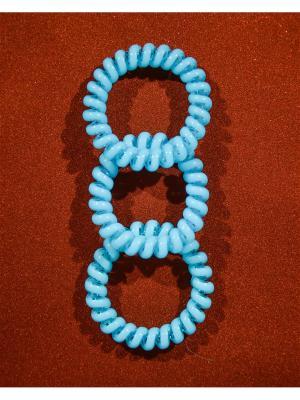 Резинка пружинка 3 шт. Bizon. Цвет: голубой