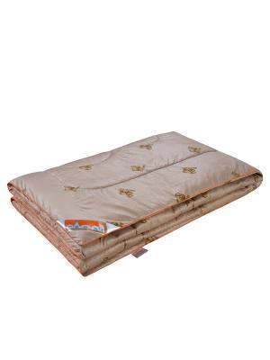 Одеяло Золотое руно 140*205см. 1st Home. Цвет: светло-коричневый, золотистый