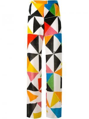 Брюки с геометрическим принтом Ingie Paris. Цвет: многоцветный