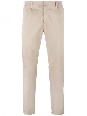 Классические брюки Paolo Pecora. Цвет: телесный