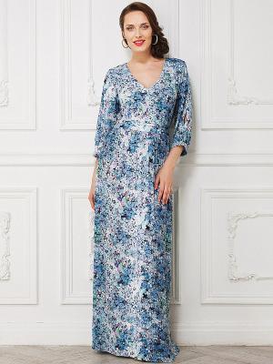 Платье La vida rica. Цвет: голубой, сиреневый, розовый, белый