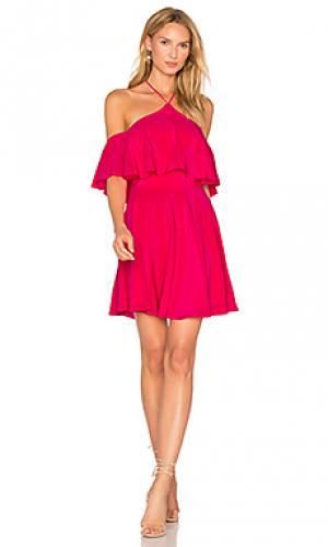 Платье baja Amanda Uprichard. Цвет: розовый