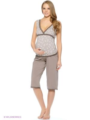 Пижама для беременных ФЭСТ. Цвет: серый