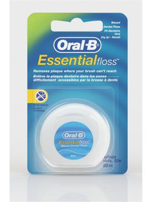 Зубная нить EssentialFloss невощеная 50м Oral-B. Цвет: синий