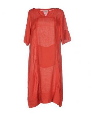 Платье до колена CALIBAN. Цвет: ржаво-коричневый