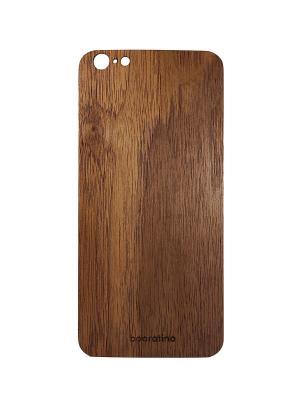 Деревянная накладка для iPhone 6Plus/6PlusS орех booratino. Цвет: коричневый