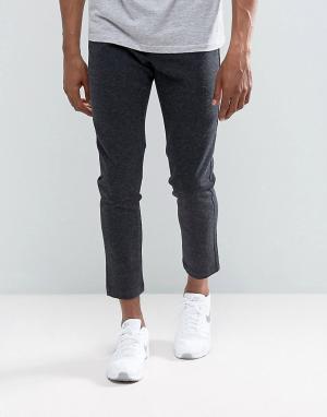 Just Junkies Облегающие брюки строгого кроя. Цвет: серый