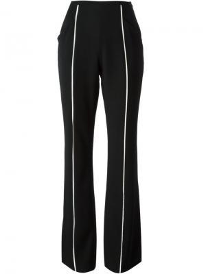 Расклешенные брюки Jean Louis Scherrer Vintage. Цвет: чёрный