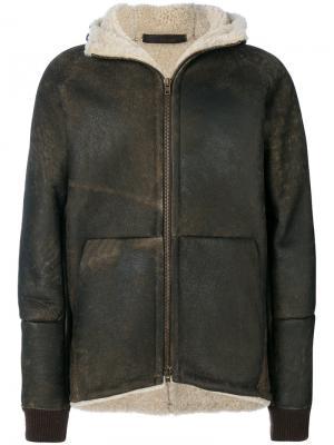 Куртка с подкладкой из цигейки Salvatore Santoro. Цвет: коричневый