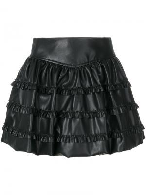 Многоуровневая юбка с рюшами Philosophy Di Lorenzo Serafini. Цвет: чёрный