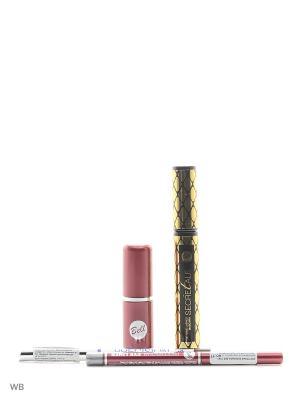 Спайка тушь secretale xtreme, помада lipstick classic, карандаш professional eye liner Bell. Цвет: черный, коричневый, серебристый