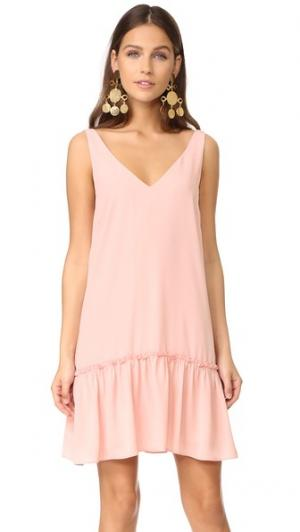 Платье Bloom Amanda Uprichard. Цвет: «пыльный» розовый