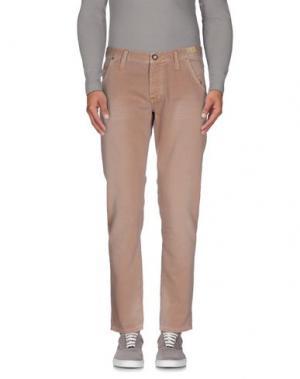 Повседневные брюки 0/ZERO CONSTRUCTION. Цвет: голубиный серый