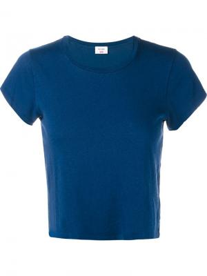 Укороченная футболка Hanes Re/Done. Цвет: синий