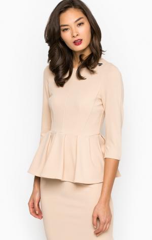 Блуза POIS. Цвет: бежевый