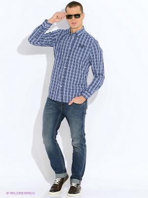 Рубашка LERROS. Цвет: синий