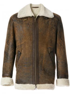 Текстурированная куртка с эффектом потертости Salvatore Santoro. Цвет: коричневый