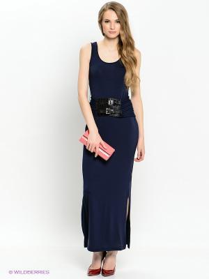 Платье INCITY. Цвет: темно-синий