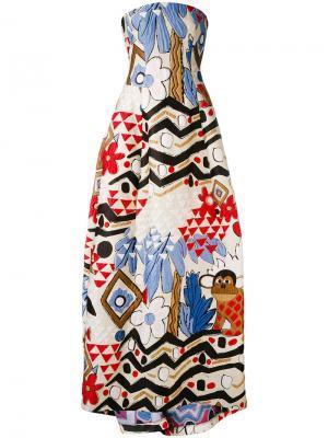 Платье Moss Talbot Runhof. Цвет: многоцветный