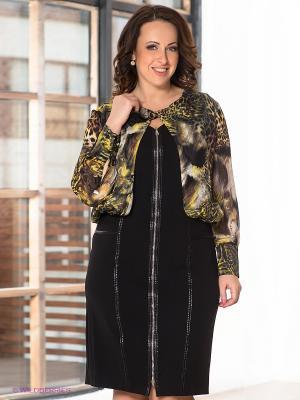 Платье Giani F. Цвет: черный, зеленый, желтый
