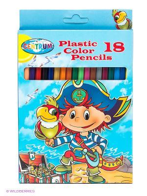 Цветные карандаши Пират Centrum. Цвет: голубой, желтый