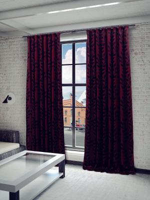 Готовая штора SANPA HOME COLLECTION. Цвет: бордовый