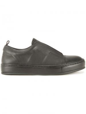 Кроссовки без шнуровки Wooyoungmi. Цвет: чёрный