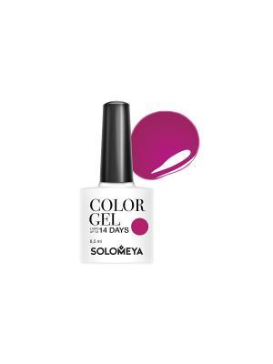 Гель-лак Color Gel Тон Breton SCG134/Бретон SOLOMEYA. Цвет: малиновый, красный