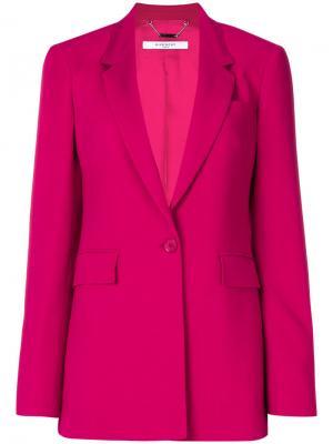 Классический блейзер Givenchy. Цвет: розовый и фиолетовый