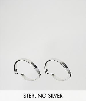 ASOS Комплект из 2 серебряных колец. Цвет: серебряный