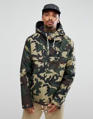 Dickies Камуфляжная куртка Milford. Цвет: зеленый