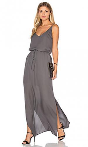 Макси платье harlow Rory Beca. Цвет: серый