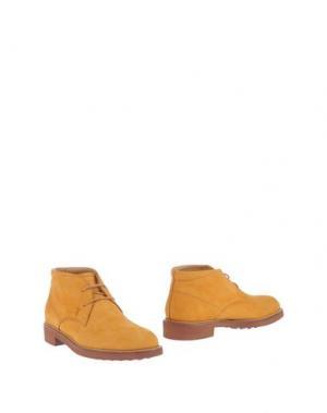 Полусапоги и высокие ботинки TOD'S. Цвет: оранжевый