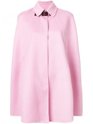 Пальто-кейп Versace. Цвет: розовый и фиолетовый