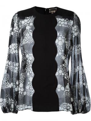 Блузка с принтом Giambattista Valli. Цвет: чёрный