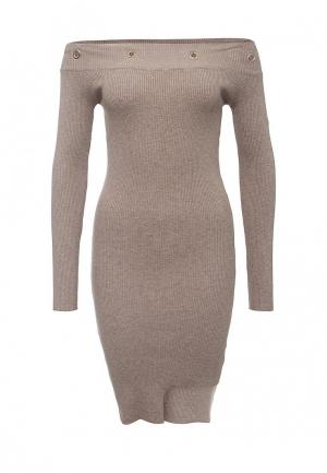 Платье QED London. Цвет: бежевый