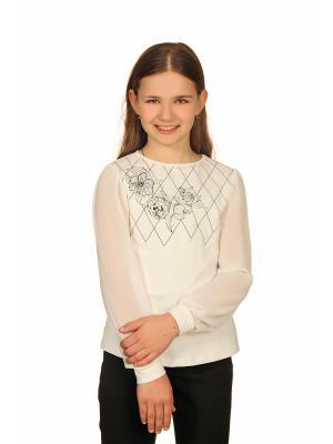 Блузка Enfant sage. Цвет: молочный