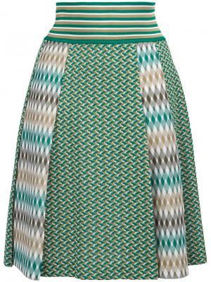Плиссированная юбка Missoni. Цвет: зелёный