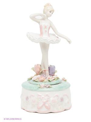 Музыкальная фигурка Балерина Pavone. Цвет: белый, синий, розовый