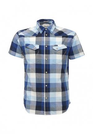 Рубашка Wrangler. Цвет: синий