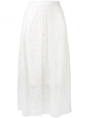 Многослойная кружевная юбка Essentiel Antwerp. Цвет: белый