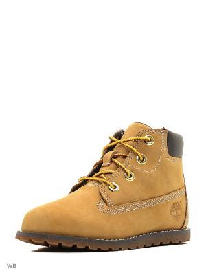 Ботинки TIMBERLAND. Цвет: светло-коричневый