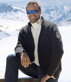 Трикотажная Куртка с Подкладкой из Шерпы AFM. Цвет: черныи