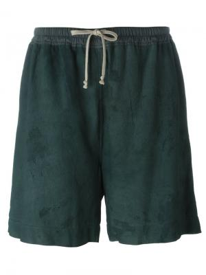 Свободные шорты Rick Owens. Цвет: зелёный
