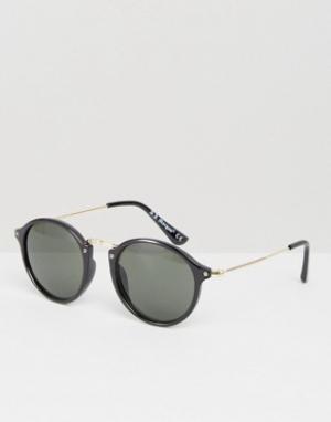 AJ Morgan Круглые солнцезащитные очки. Цвет: черный