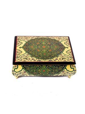 Шкатулка для ювелирных украшений MERCANTE. Цвет: зеленый, темно-коричневый, золотистый