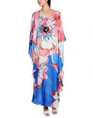 Длинное платье FISICO-CRISTINA FERRARI. Цвет: коралловый
