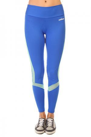 Леггинсы женские  New Zealand Legging Stripe Blue CajuBrasil. Цвет: синий